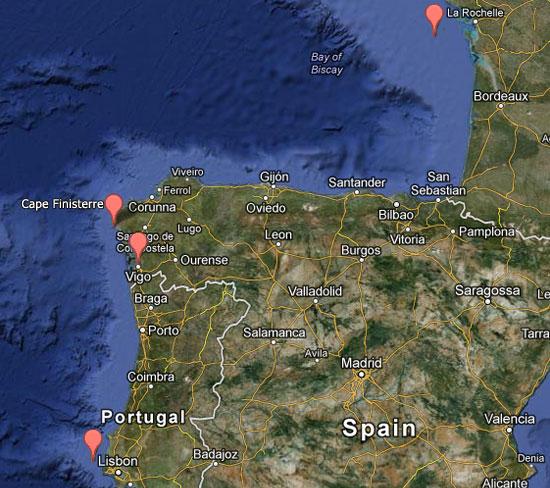 La Rochelle to Lisbon